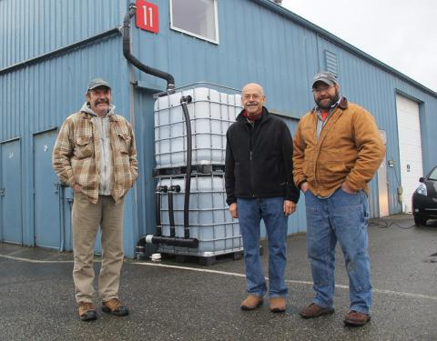 Port Townsend Paper Co Biochar filtration totes, photo: Scott Wilson